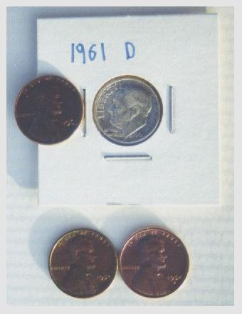 Coins found using 5 inch and 8 inch coils